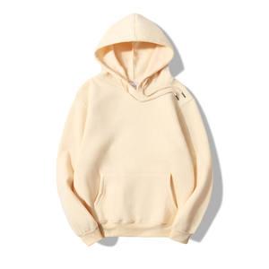 Wholesale Fleece Sweater Fashion Casual Custom Hoodie Pure Cotton Men 100% Cotton Blank Hoodie