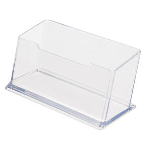 New Clear Desk Shelf Box storage Display Stand Acrylic Plastic transparent Desktop Business Card Holder