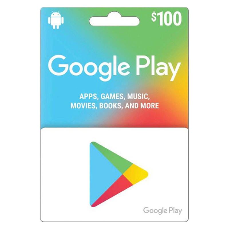 US Google Play $ 100 Google Recharge Gift Card Just account Redemption Code US Version Game Google Recharge