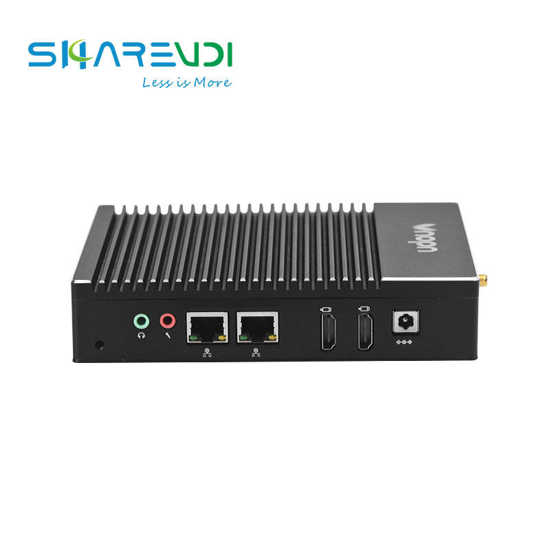 Hot sales fanless mini pc computer J3160 2 lan port Barebone system for Kiosk Interactive info system