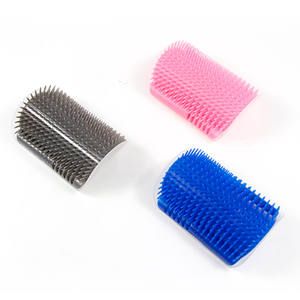 Cat Self Groomer with Catnip, Dog Cat Corner Groomer Wall Corner Scratch Comb Grooming Brush, Perfect Scratch Tool for Fur Pet