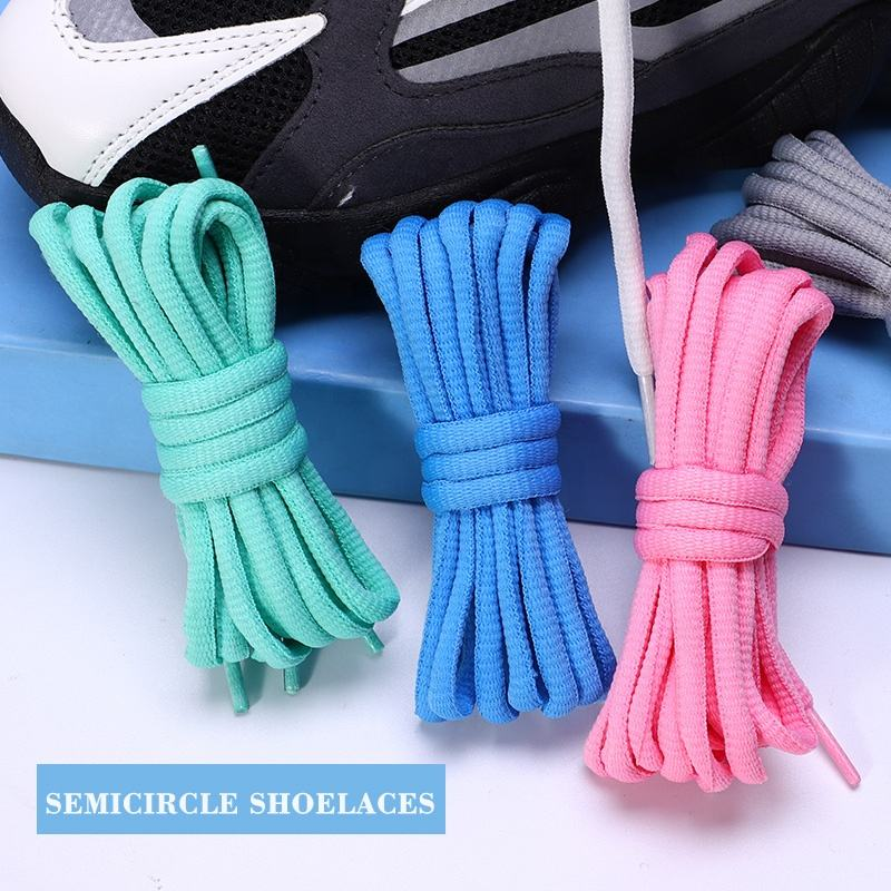 "Oval Shoelaces Various Colors Half Round 1/4"" Polyester Shoe Laces"