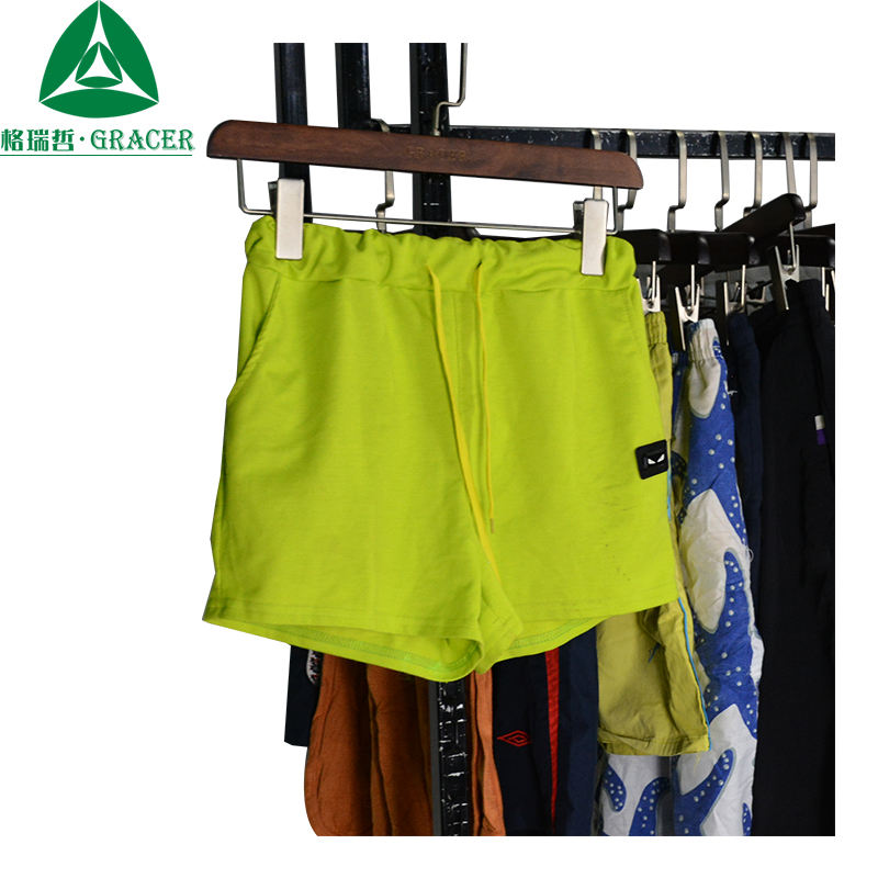 Sort Used Clothes Second Hand Man Gym Shorts Wholesale Used Clothing