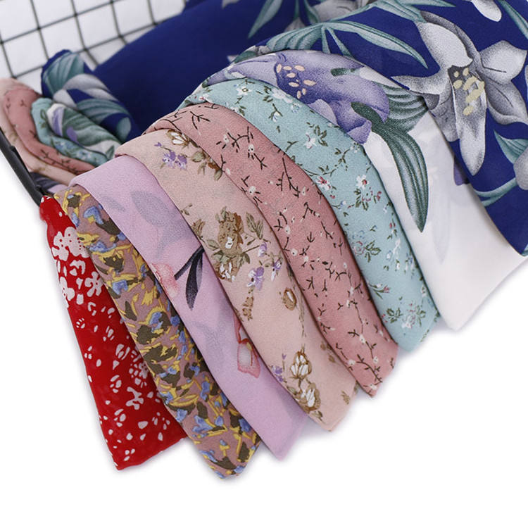 2019 Fashion High Quality Women Muslim Islamic Hijab Long Scarfs Shawls Flower Print Chiffon Hijab Scarf