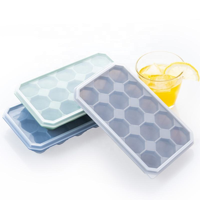 Diamond shaped ice cube mold silicone freezer food storage container ice cube tray