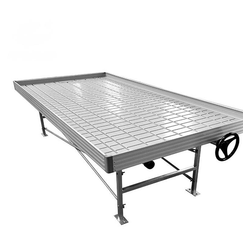 4x8ft ebb and flow table for greenhouse rolling bench seedling hydroponic growing system