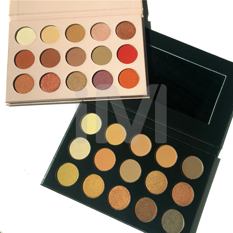No Logo 15 Colors Nude Eye Shadow Makeup Cardboard Nake Eyeshadow Palette