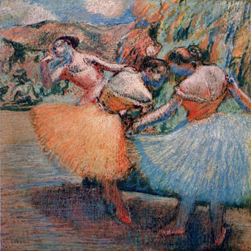 Artist Hand-塗装Edgar Degas Ballerina Oil PaintingにCanvas Reproduction Ballerina Painting Edgar Degas Oil Painting