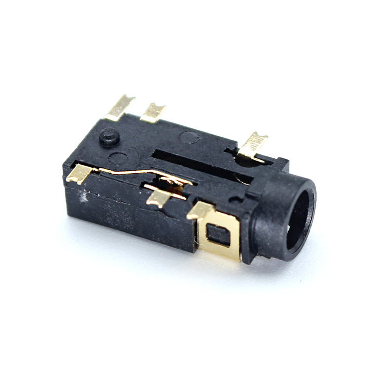 XYFW Female Audio Connector 6 Pin SMT SMD 3.5mm Headphone Jack Socket PJ 2082 Gold plated Audio Socket