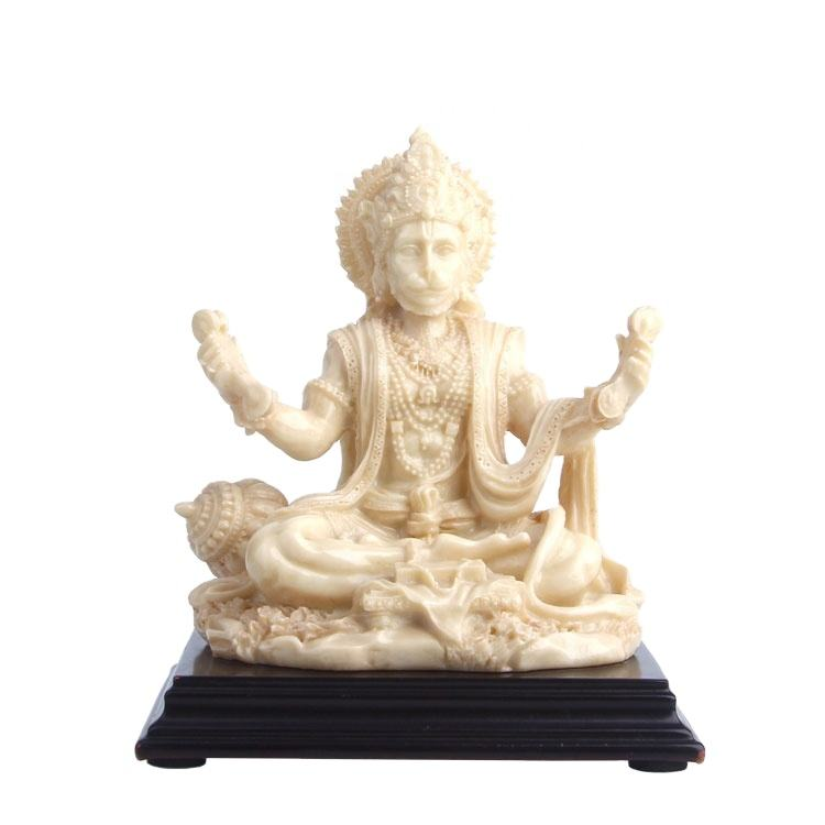 Hand carved god polyresin ivory hanuman idol sculpture statue/home /office gift item