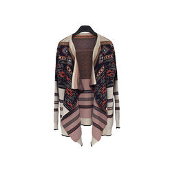New Design Jacquard Women Female  Casual  Cardigan