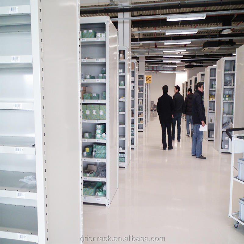 Commercial Library Angle Steel Shelving, Metal Locker Slot Angle Iron Shelf For Supermarket