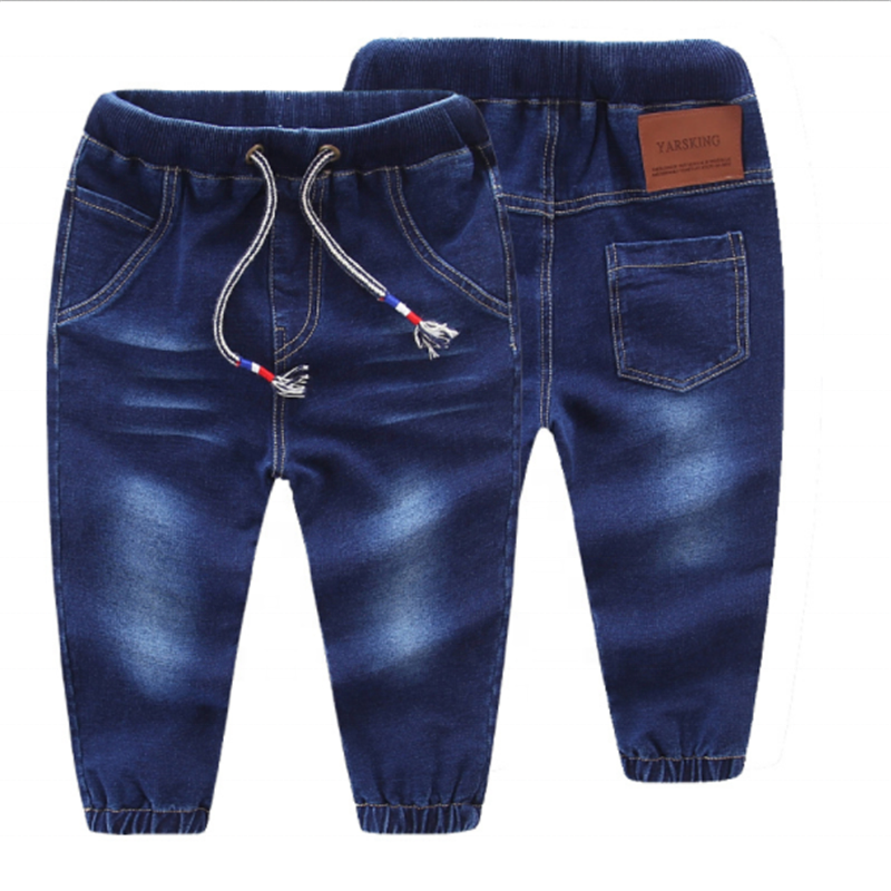 GZY In-Stocks hot sell 도매 children clothing 탄성 허리 kids boys demin jeans