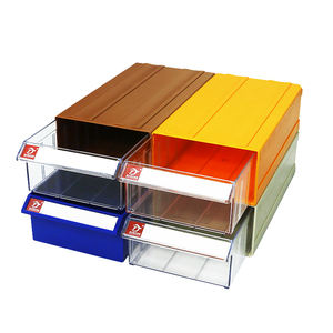 High quality plastic stackable storage drawer for electronic parts storage hardware drawer