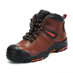 Genuine Leather  safety shoes without lace