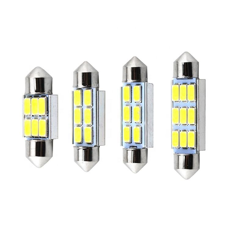 LKT Cob festoon LED Bulb 6 9 smd 31/36/42/48mm Car Roof Light Auto Interior DC 12V Lamp
