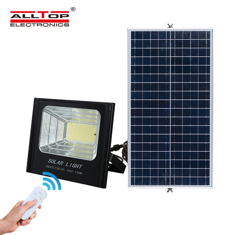 ALLTOP High lumen waterproof IP67 cooling design outdoor lighting 50w 100w 150w 200w led solar flood lamp