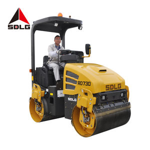 SDLG RD730 compact 3ton double drum vibratory volvo compactor road roller for sale