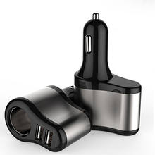 USB Car Charger, 1 Sockets car Cigarette Lighter Splitter 12/24V Dual USB