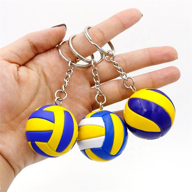 Design your own tassel birthday gifts pvc volleyball keychain accessories