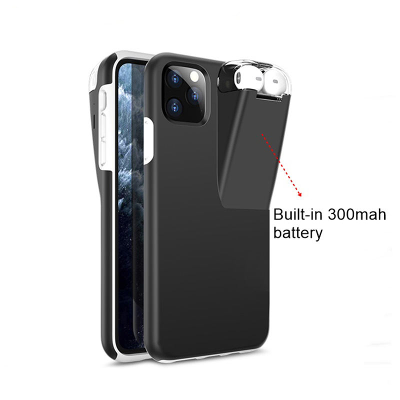 wholesale for iphone/airpods mobile phone case with earphone holder,for iphone 11 case airpods charge