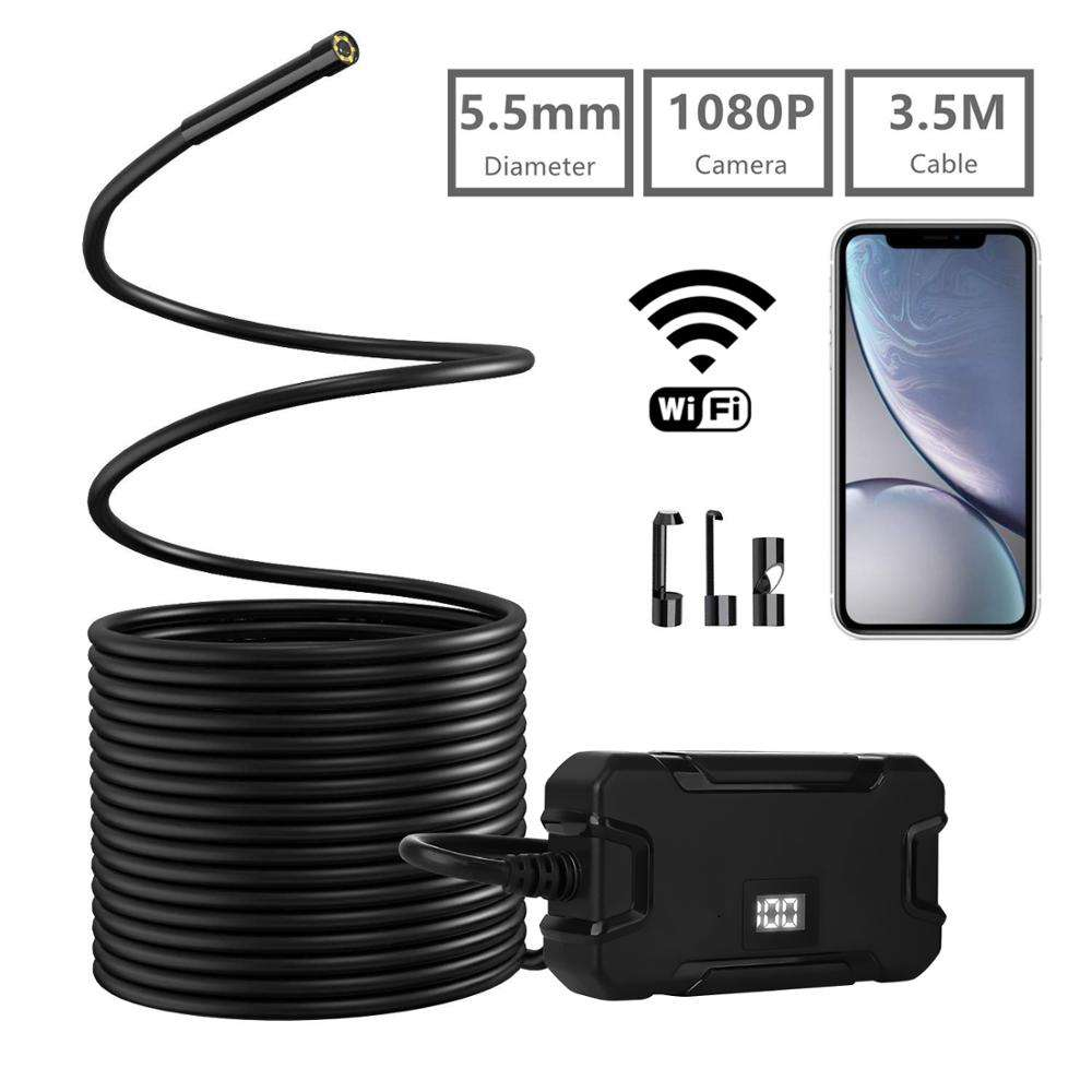2019 newest 5.5mm 1080p wifi borescope for engine