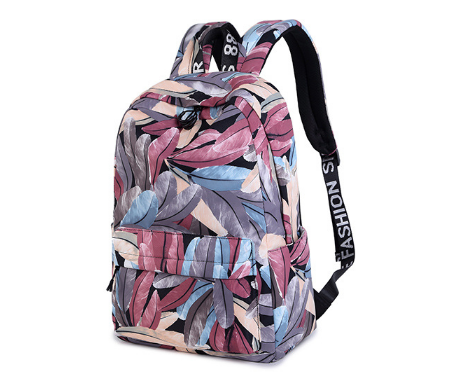 Waterproof Polyester Backpack Casual Backpack Printed Backpack