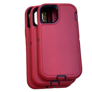2020 New Luxury Custom Armor Shockproof Mobile Cover Funds 3 in 1Belt Clip Defender Phone Case For Iphone 7 8 Plus 11 12 Pro Max