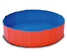 blue and red color pvc foldable dog pet cat pool large dog pet washing swimming pool 80x20cm