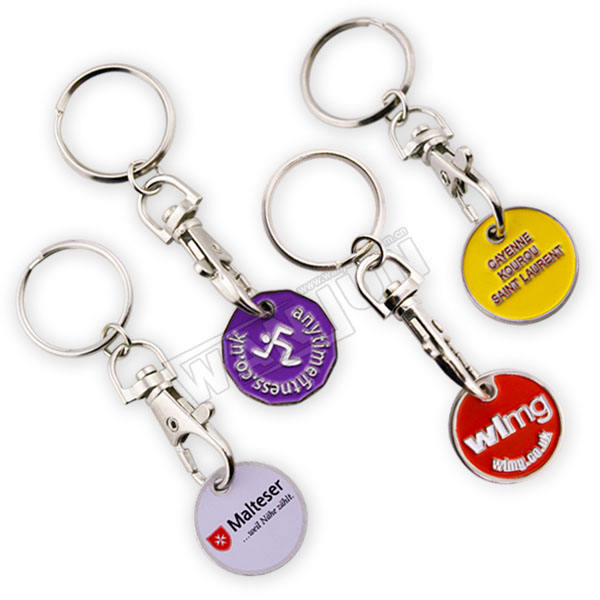 customized logo shopping cart coin key chain,promotional trolley cart token coin keyring,Shopping cart tokens keychain