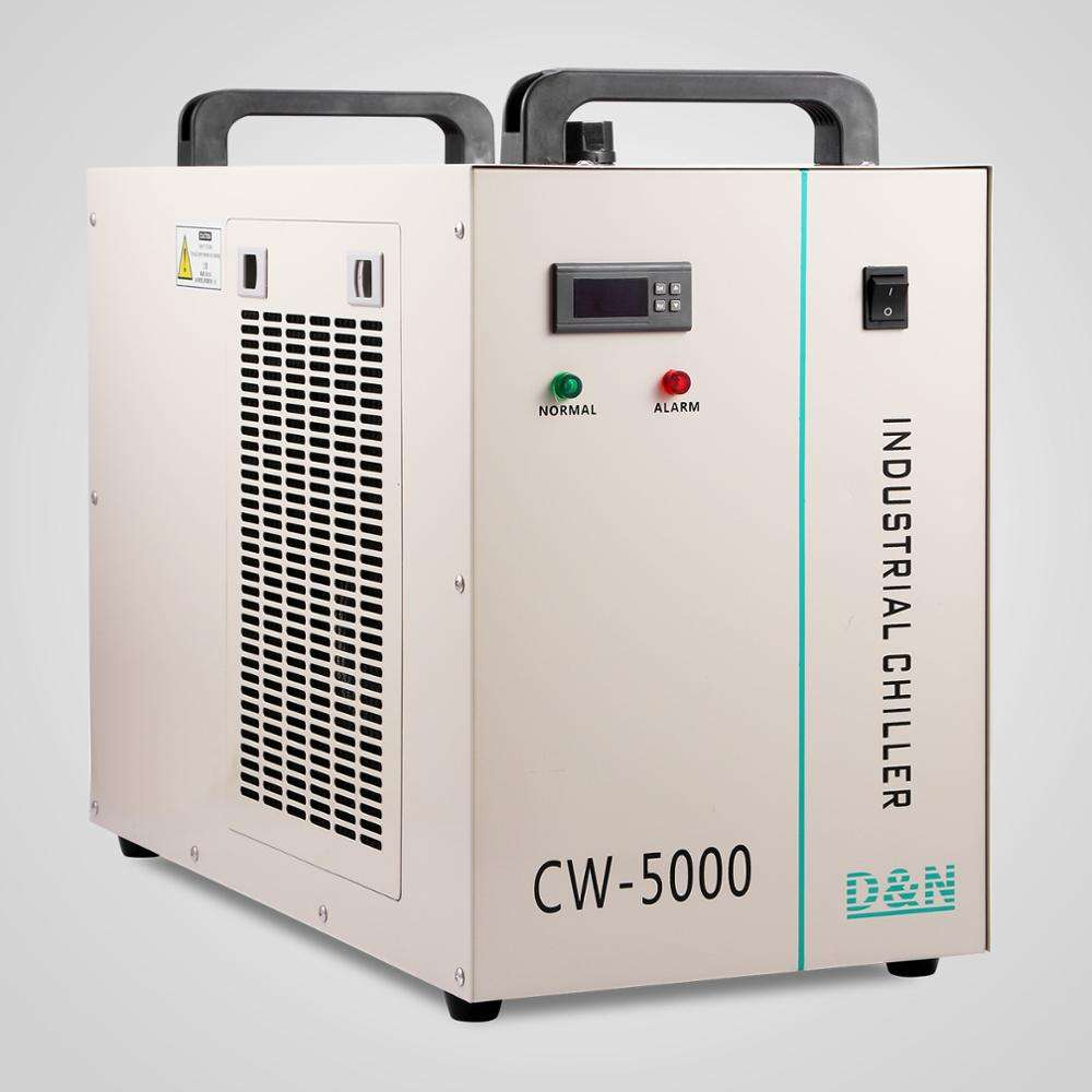 Chiller Air Industri Mesin untuk 80-100 W <span class=keywords><strong>CO2</strong></span> Tabung Kaca CW5000 Chiller