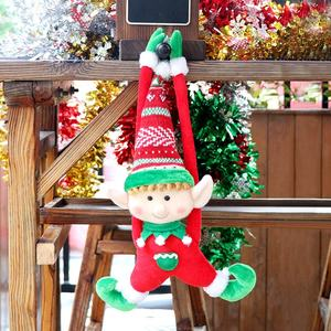 Ourwarm Hot sell Christmas Decoration Supplies Elf 2pcs Red Green Christmas Elf Plush Dolls For Xmas New Year Party