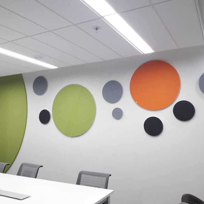 Decorative fabric acoustic panel