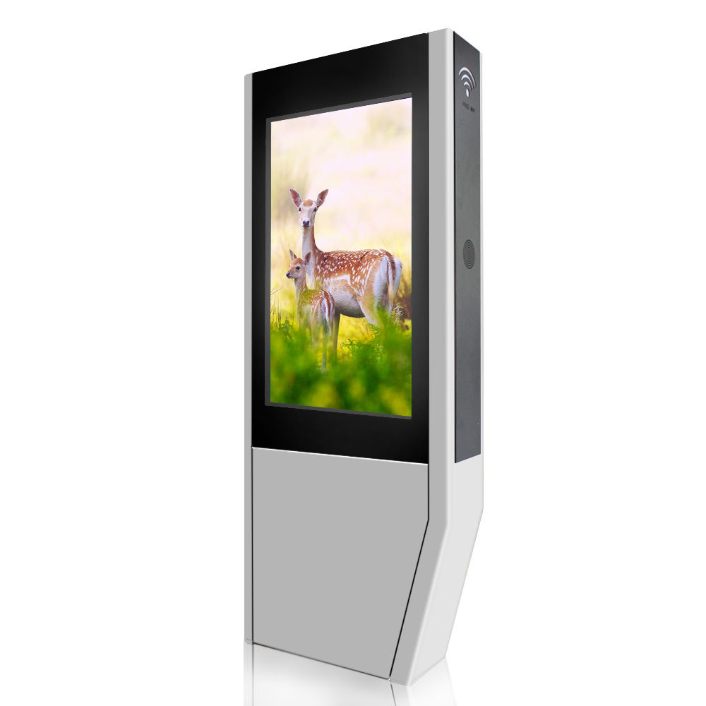 Tahan Air Android 65 Inci LCD Outdoor Advertising Pemain Musim Panas 50 Derajat Dukungan Digital Signage Wireless Kecil Sentuh Tablet