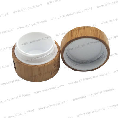 luxury empty bamboo jar for cosmetic face cream container with PP inner 15g 30g 50g 80g 100g 200g