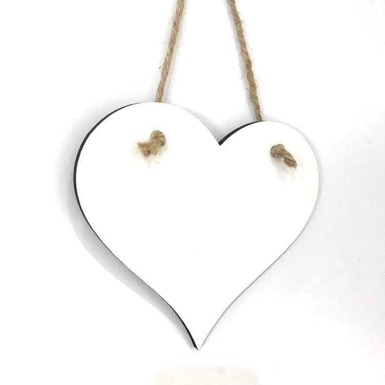 "ORNAMENT DOUBLE SIDED 10 PC heart shape SUBLIMATION BLANK 3/"" X 3/"" HEART"