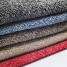 boucle woven fabric double sided yarn dyed woollen twill stretch blended wool fabric overcoat