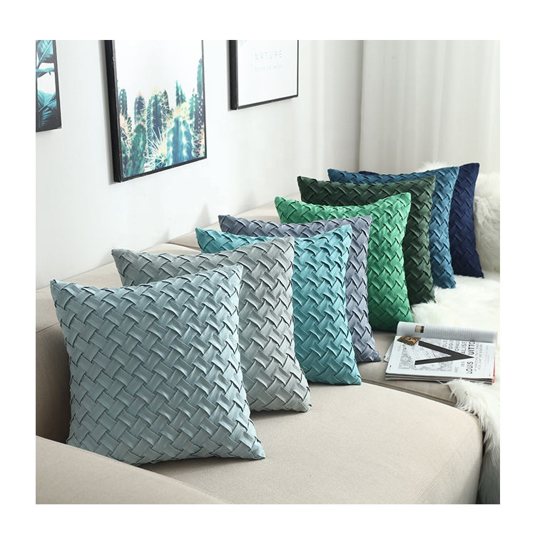 Wholesale Price Throw Pillows Plain Knitted Fashion Sofa Cushion Covers