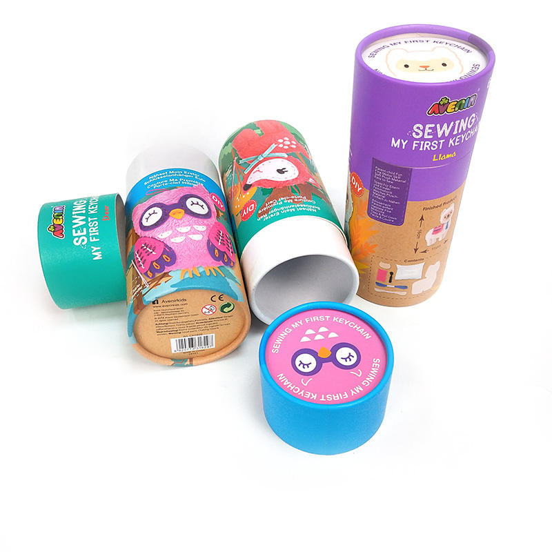 Amazing Designs Customized Keychain Cardboard Paper Tube Packaging
