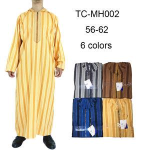 2020 New Design Muslim Men Ikaf Brand Hood Men Qamis Thobe Clothing