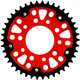 China Sprocket China Machining SPROCKET MOTORCYCLE Custom Stealth Rear Sprocket Red