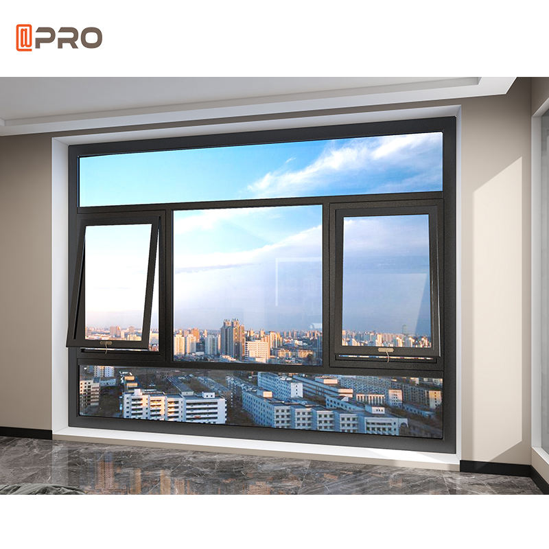 Australian standard windows and doors frosted glass window aluminum profile aluminum profile triple hung windows Awning Window