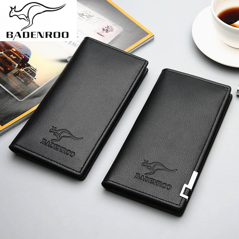 Compact Slim Thin Credit Card PU Leather Wallet men Soft Leather Men's Vertical Wallet