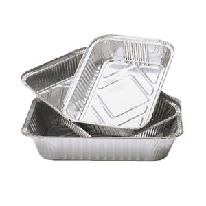 OEM Logo aluminum foil for food packing  disposable small foil tray  small aluminum foil container
