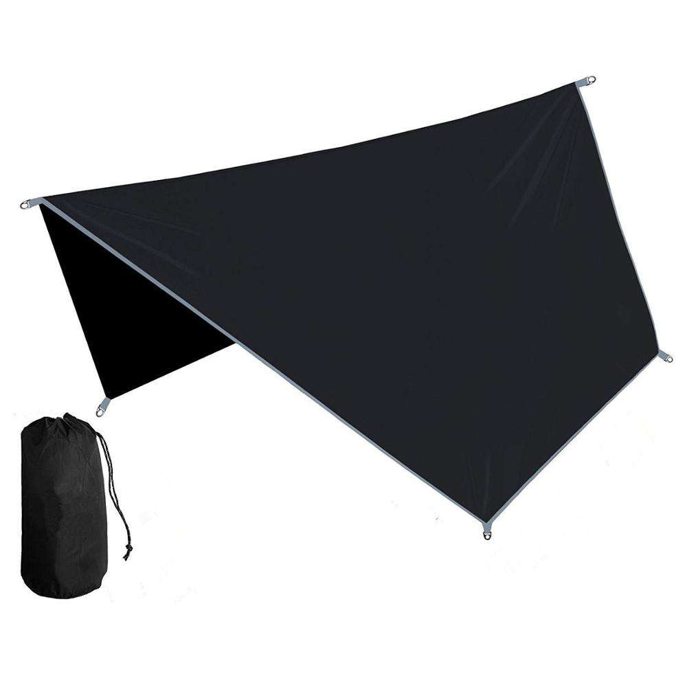 Square Outdoor Camping Hammock Rain Fly Nylon Tent Tarp / Beach Sun Shade Shelter