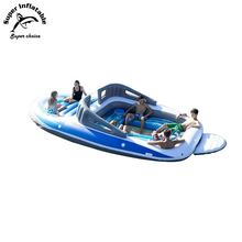 Giant 6 Person Huge Party Island Boat Lake Ocean Float Lounge Water Inflatable Floating Island For Sale