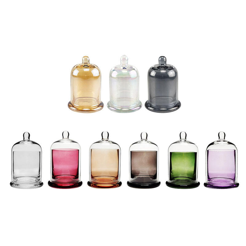Trust Fragrance Bottle Ion Plating Color Spraying Aromatherapy Glass Bell Cover Candle Jar Cup