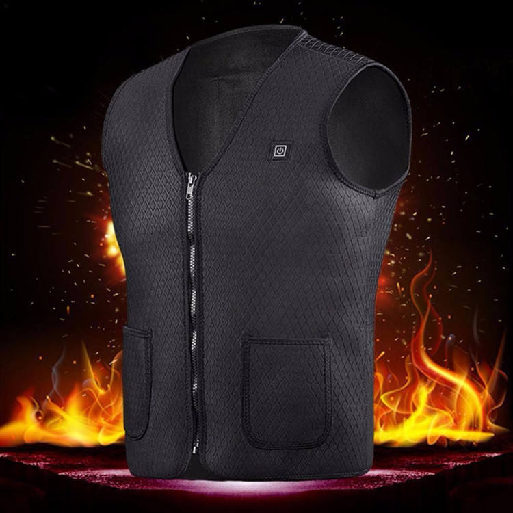 2019 5V/7.4 High Quality USB Heated Warm Vest Women Electric Charging Heating Coat Jacket Clothing Vest With Three-Speed adjust