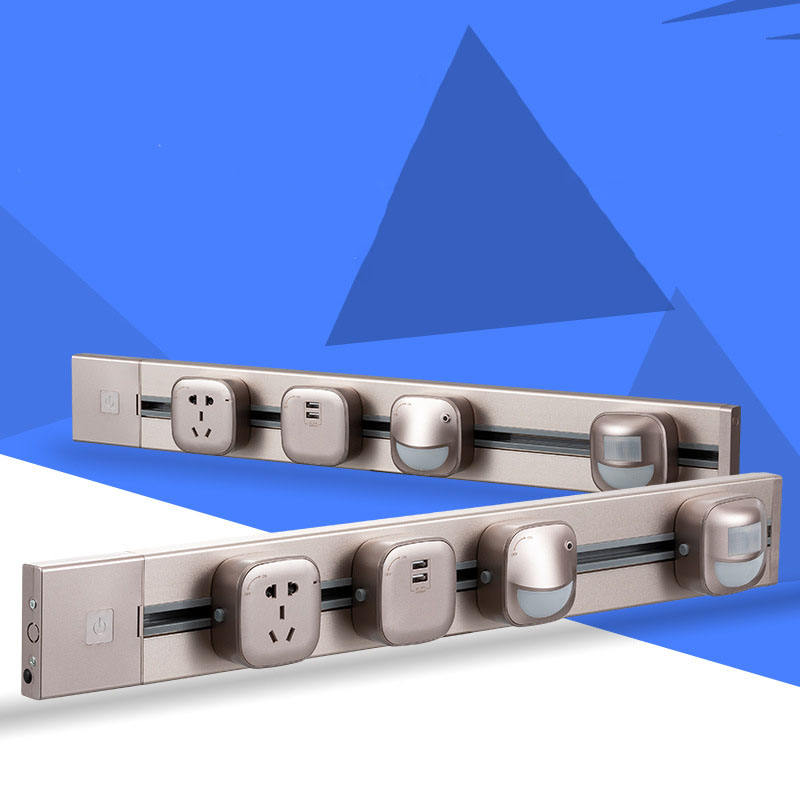 New Power Rail Socket, Surface-Mounted Ultra-Thin And Wide Covering 86 Inner Box, High-Power Mobile Rail Socket