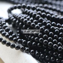 Natural Black Onyx Semi Precious Loose Gemstone Gem Stone 5mm Round Beads Strands For Jewelry Making Design Diy